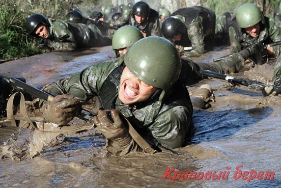 Фотоотчет с испытаний на право ношения Крапового Берета для ветеранов ССН 2016