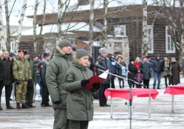 Торжественная церемония присяги оборонно-спортивного класса «Росгвардии» в Череповце