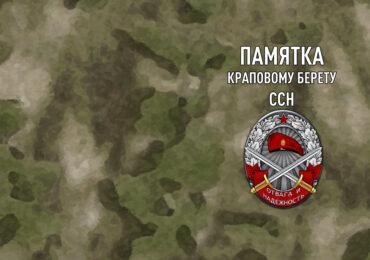 Памятка Краповому берету ССН. Символика Сил специального назначения.